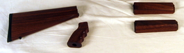 wood ar15 carbine stock set complete